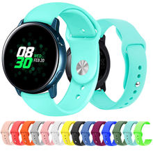 20mm 22mm Universal Sport Silicone Band Strap for Samsung Galaxy Active Watch 42 46mm Band Gear S2 S3 Quick Release WatchBand(China)