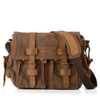 New Arrival Men Canvas Shoulder Bags Retro Postman Bag Men Women Casual Messenger Bag