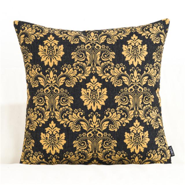 Retro Geometric Patterned Cushion Cover