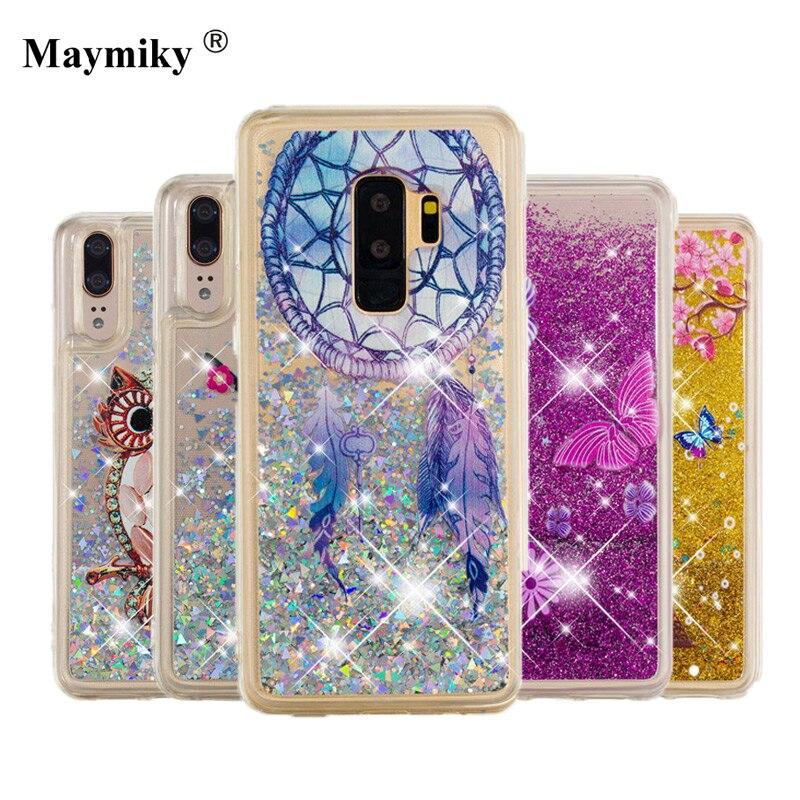 Printing Dynamic Liquid Glitter Bling Sand Case For Samsung Galaxy S9 S8 Plus J2 Pro A8 Plus 2018 J3 J5 J7 A3 A5 2017 J120 Cover Drip-Dry Phone Bags & Cases