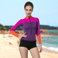 SBART New Arrival 2017 Women Neoprene Wetsuit 2MM One Piece Long Sleeve Neopreno Swimsuit Womens Surf Swim Dive Wet Suit N941