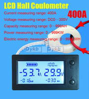 DC 300V 400A Battery Monitor Combo Meter Digital Hall Sensor coulombmeter VOLT Ammeter Voltage Current Capacity Energy Power