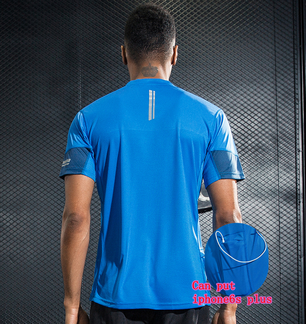 3be311eed59 T-Shirt Men Fitness Crossfit Workout Tops Elastic Shirts Running Body  Building Sports Wear Running