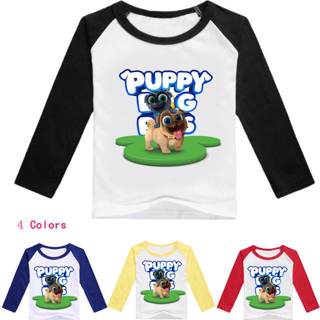 9742a9f6b24e Z&Y 2-16Years Bobo Choses 2018 Pet Puppy Dog Pals T Shirts for Girls Tops  Long Sleeves Boys Long Sleeve Tshirt Kids Clothes T008
