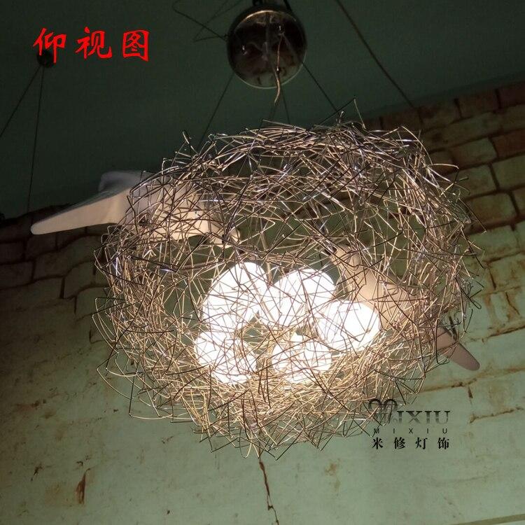 Geschenk NEUE Personalisierte aluminium 40 cm 5 G4 draht vogelnest pendelleuchte lampe leuchte bedroon esszimmer ZL4698 - 3