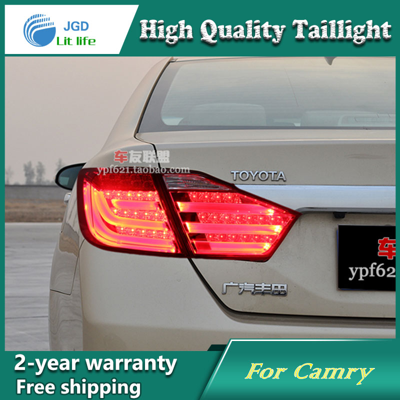 Car Styling Tail Lamp for Toyota Camry V50 2012-2014 Tail Lights LED Tail Light Rear Lamp LED DRL+Brake+Park+Signal Stop Lamp car styling tail lights for toyota camry v50 2012 2014 led tail lamp rear trunk lamp cover drl signal brake reverse