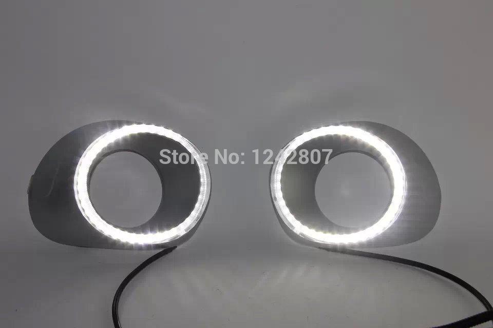 СИД DRL дневного света высокое качество светодиодных чипов для Мицубиси Аутлендер дизайн глаза ангела 2014, высокого качества быстрая доставка