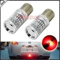 2 unids Brilliant Red BAZ15d 566 150 Bombillas LED Libre de Errores w/Reflector Espejo de Diseño Para El coche Freno de la Parada de La Cola de Copia de seguridad luces