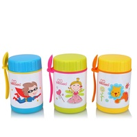 Baola 400ml Kids Vaccum Travel Lunch Box BPA Free Stainless Steel Food Thermos With Plastic Spoon