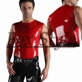 Free shipping latex Sleeveless clothes
