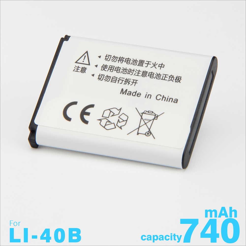 1 шт. 740 мА/ч, LI-42B Li-40B li ion аккумулятор 40B Камера Батарея для цифровой камеры OLYMPUS D720 U700 U710 FE230 FE340 FE290 FE360 SP-700 FE-150 IR-300 VH-210