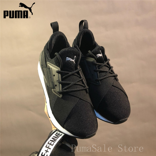 6f1d7daef23fc7 PUMA Muse Satin EP Womens Sneakers 365534 Women Sports Outdoor Badminton Shoes  Black WN s Mid-Top Sneakers Size 35.5-39