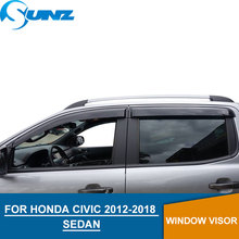 for HONDA CIVIC 2012-2018 Window Visor deflector Rain Guard 2012 2013 2014 2015 2016 2017 2018 SEDAN SUNZ