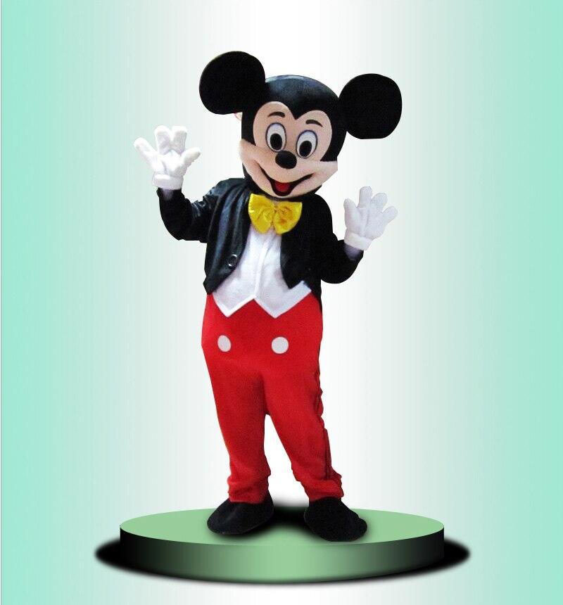 2018 classique souris noire Mascotte costume Della Mascotte Formato Adulto déguisement di Halloween Cosplay fête d'anniversaire