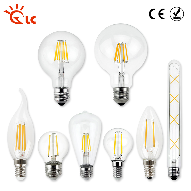 LanChuang LED Edison Bulb E27 G80 G96 G125 AC 220V 240V Filament Light Glass Bulb Lamp Antique Retro Vintage led Candle Light dimmable g125 led filament bulb light edison e27 base 110v 240v ac g125 4w 6w 8w free shipping