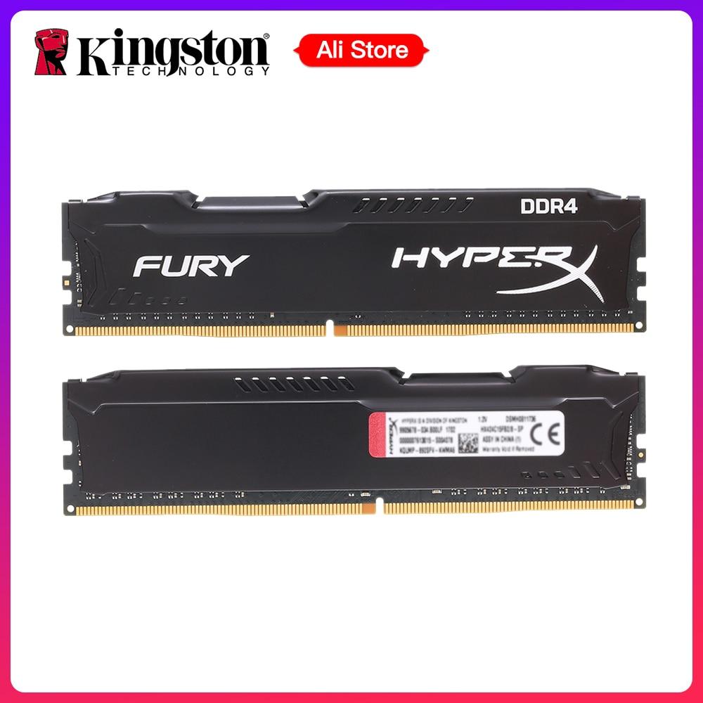 Kingston HyperX FURY 2 GB 4 GB 8 GB 16 GB 32 GB 64 GB DDR4 2400 MHz PC memoria RAM DIMM 288 pin-escritorio ram de memoria interna. memoria RAM para juegos de ordenador Ram