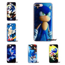 Pour iPod Tactile Apple iPhone 4 4 S 5 5 S SE 5C 6 6 S 7 8 X XR XS Plus MAX Argent Sonic Hedgehog Ombre Sega TPU Transparent Sac Cas(China)