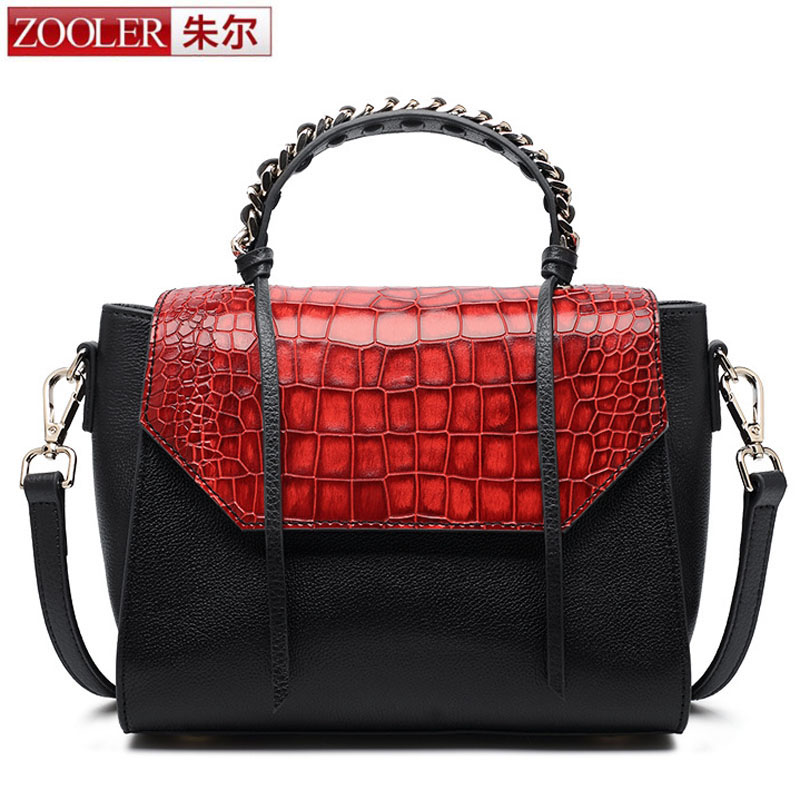 ZOOLER Crossbody Bags for Women New Ladies Messenger Bag Crocodile Genuine Leather Small Shoulder Bag sac a main femme de marque hongu genuine leather shoulder messenger bags for women pillow shape sac a main femme de marque luxe cuir 2017 black pink online