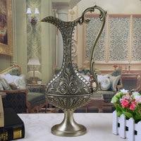 Europea bottle shap metal table vase Carriage Vase vase for flowers home decorative vase HP002