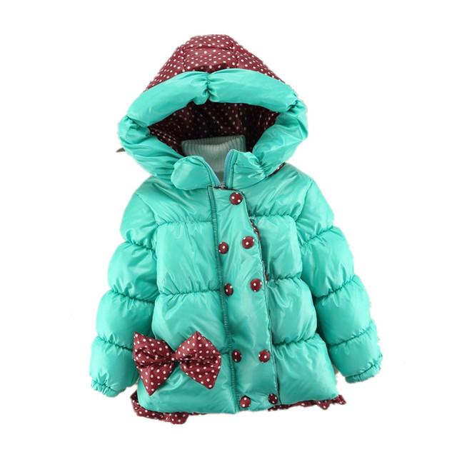 2017 Niños de la Capa de Minnie de los Bebés de invierno Abrigos niños chaqueta de manga larga capa de la muchacha caliente chaqueta de Invierno Ropa de Abrigo Gruesa niñas