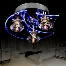 (US) Moon Star Retro Dining Room Crystal Chandelier Ceiling LED Light Pendant Lights Dropshipping