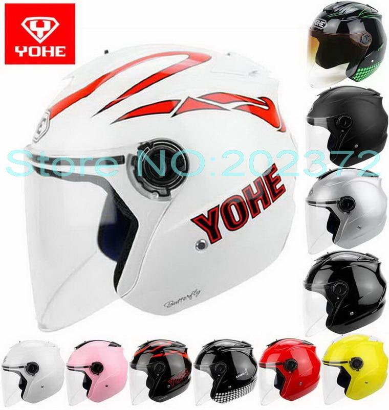 Newest summer YOHE half face motorcycle helmet YH-882B motorbike electric bicycle helmets scooter bike UV sunscreen FREE SIZE