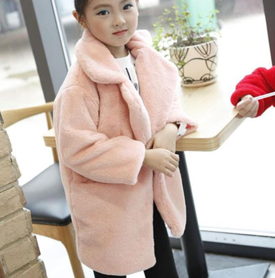 a2aa912b1c6 2018 Baby Autumn Winter Waistcoat Children s Girls Artificial Rabbit Fur  Coat Kids Faux Fur Fabric Zipper