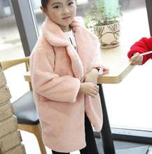 2018 Baby Autumn Winter Waistcoat Children's Girls Artificial Rabbit Fur Coat Kids Faux Fur Fabric Zipper Clothes Z761(China)