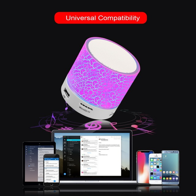 Wireless Portable Bluetooth Speaker Mini LED Music 3