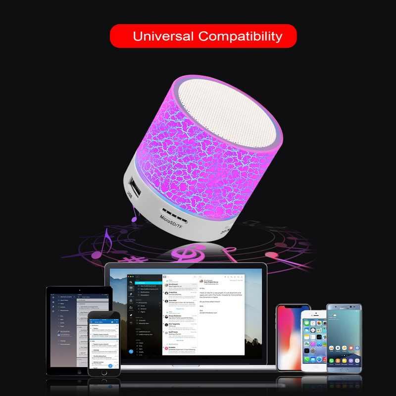 GETIHU ลำโพงไร้สายบลูทูธแบบพกพา Mini LED เสียง TF USB FM สเตอริโอลำโพงสำหรับโทรศัพท์ Xiaomi คอมพิวเตอร์คอลัมน์