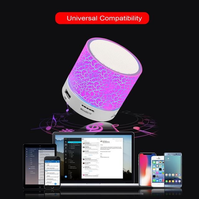 GETIHU Wireless Portable Bluetooth Speaker Mini LED Music Audio TF USB FM Stereo Sound Speaker For Phone Xiaomi Computer column