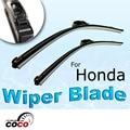 "2 pcs 28 ""+ 24"" acessórios motorista/passageiro wiper blade oem bracketless pára wiper blades limpa para honda civic 2006-2011"