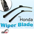 "2PCS 28""+24"" Accessories Driver / Passenger wiper blade OEM BRACKETLESS WINDSHIELD WIPER BLADES WIPERS For HONDA CIVIC 2006-2011"