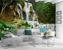 beibehang Custom size Interior classic decorative painting papel de parede 3d wallpaper landscape waterfall 3D stereo background