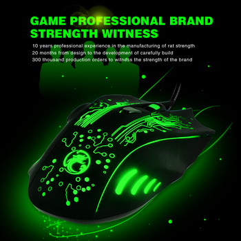 Wired USB Silent Gaming Mouse 5000 DPI 6 Button Ergonomic Magic Video Gamer Mice for Laptop - X9 4