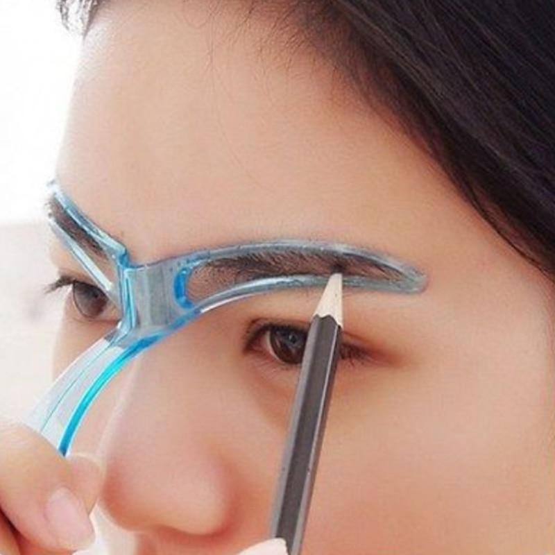 Diy profissional sobrancelha shaper stencils modelo estéreo estêncil moldar olho sobrancelha grooming 1pcs ferramenta de maquiagem