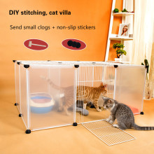 Cat cage home cat villa large house double litter fence anti-jump indoor isolation