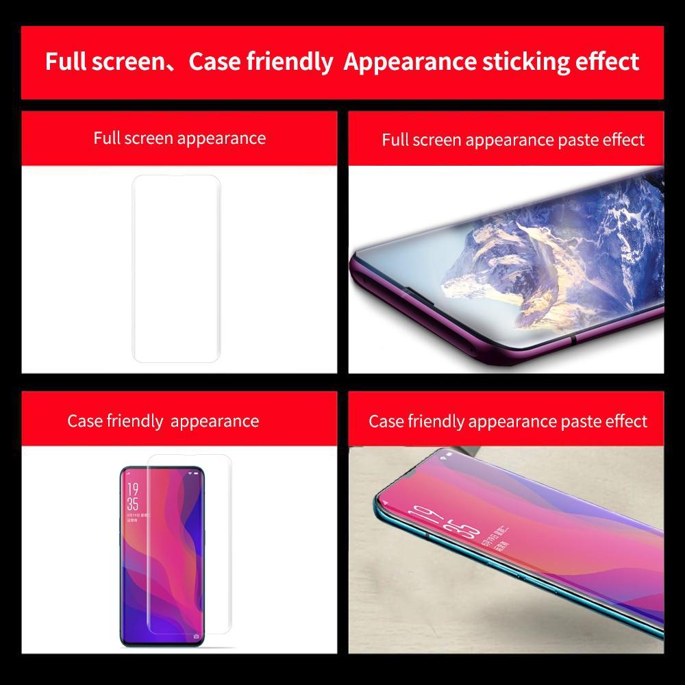Image 5 - Líquido UV completa pegamento de templado de vidrio de película para OPPO encuentra X Pantalla Completa cobertura 3D luz UV Nano Líquido Protector de pantalla película-in Protectores de pantalla de teléfono from Teléfonos celulares y telecomunicaciones on AliExpress