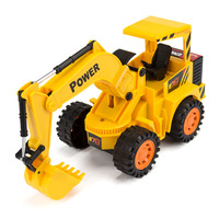 HELIWAY Original 1:12 RC Excavator with Coloured Lights Model Toy Remote Control Constructing wheel Digger Truck Toys for Kids