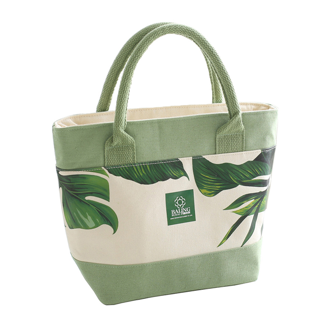 Fashion Thermal Insulated Cooler Bag Women Lunch Box Tote Bento Drink Picnic Food Storage Handbag Pouch