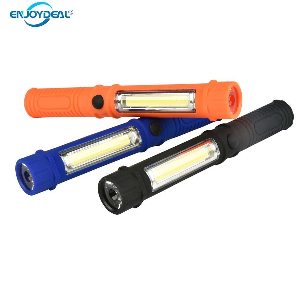 250LM COB LED Lamp Camping Work Pen Light LED Flashlight ...