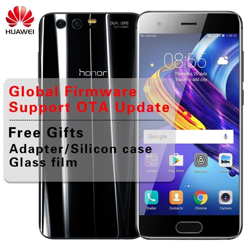"Global rom 5,15 ""huawei Honor 9 6 ГБ Оперативная память 64 ГБ/128 ГБ Встроенная память Android 7,0 телефон KIRIN 960 Octa Core Две задних камеры 9 V 2 A смартфон"