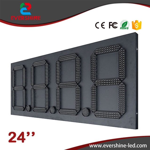 24'' 88.88 customized 7segment Digital led fuel gasoline board Red outdoor waterproof led gas station price signs board