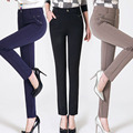 Plus Size 27-34 Women Pants 2016 New Fashion Spring Autumn  Ladies Leisure High Waist Elasticity Pants Straight Trousers C538