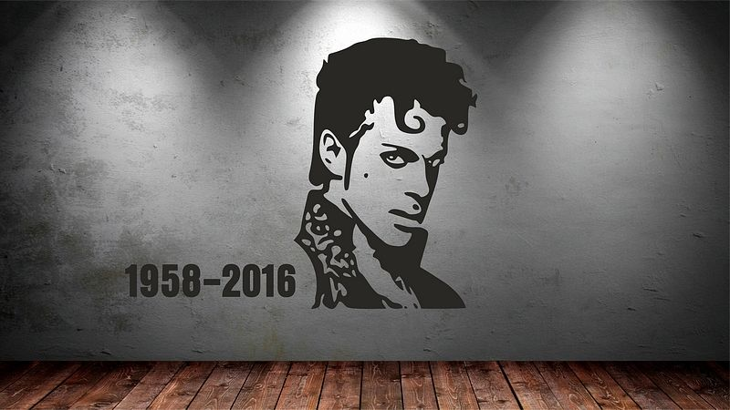 Prince vinyl wall stickers art the revoloution celebrity pop singer wall decal available in different colors mural poster sa997 in wall stickers from home