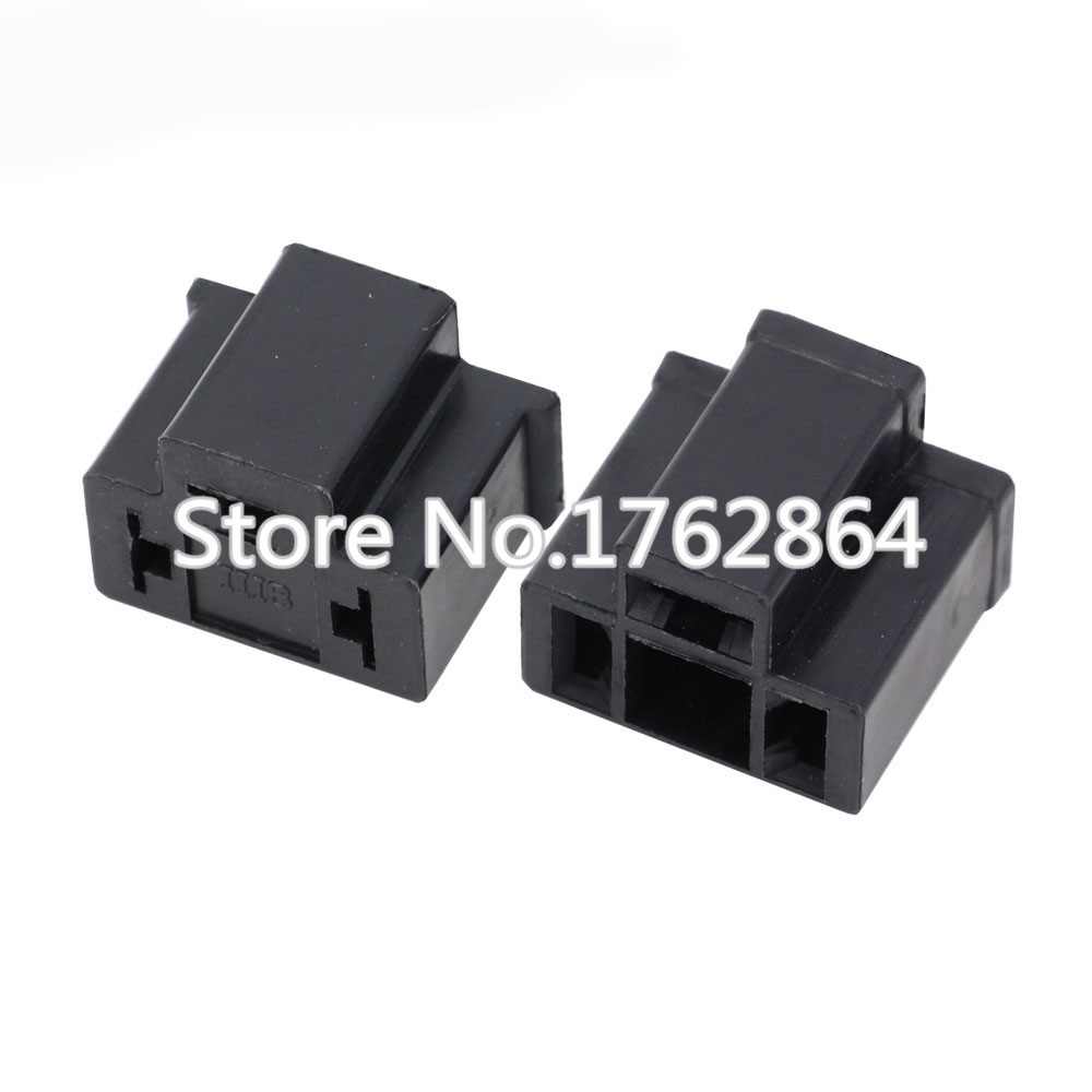 PA66 H4 3 Pin Unsealed Cable Wire Connector Electrical Connector Automotive Plug Lamp Holder Socket DJ7033 7 8 11 21 3P in Connectors from Lights Lighting