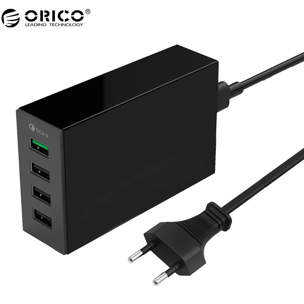ORICO QSL-4U QC 2.0 Rapide Chargeur QC2.0 * 1 5V2. 4A * 3 Max Sortie 4 Ports USB De Bureau chargeur Pour Téléphone