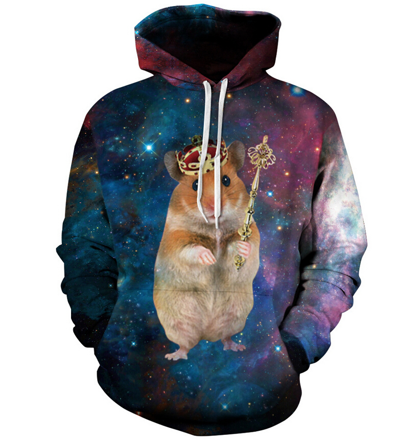 2018 jacket with hat King Rat wear the crown  funny printing sweatshirt fashion men women casual hoodies pullovers