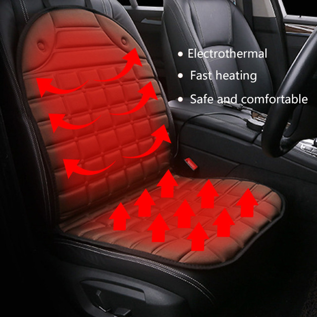 12V Heated Car Seat Cushion Cover Universal Auto Heating Pad Warming