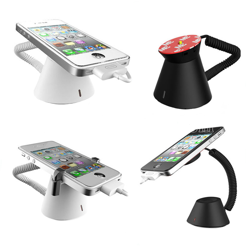 10xWholesales charging cell phone security stand smartphone display alarm iphone secure system retail burglar alarm  black white 10xmobile cell phone security display stand iphone alarm holder smartphone secure bracket smartphone anti theft syatem charging
